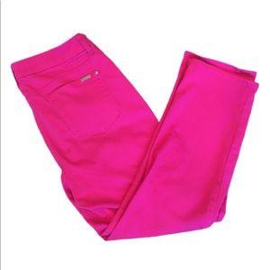 Chico's So Slimming Girlfriend  Pink Crop Capri